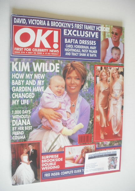 <!--2000-05-26-->OK! magazine - Kim Wilde cover (26 May 2000 - Issue 214)