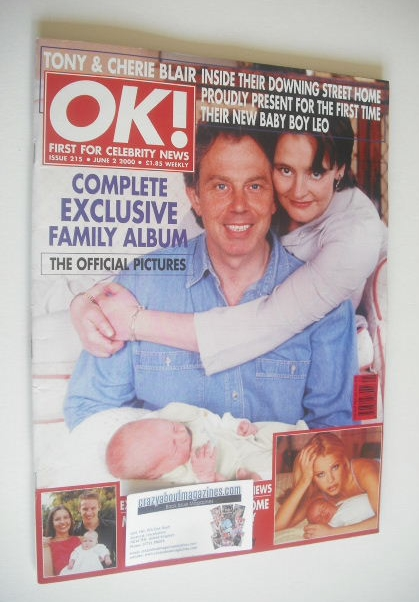 <!--2000-06-02-->OK! magazine - Tony Blair and Cherie Blair and baby Leo co