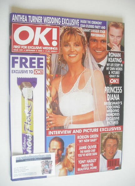 <!--2000-09-08-->OK! magazine - Anthea Turner and Grant Bovey cover (8 Sept