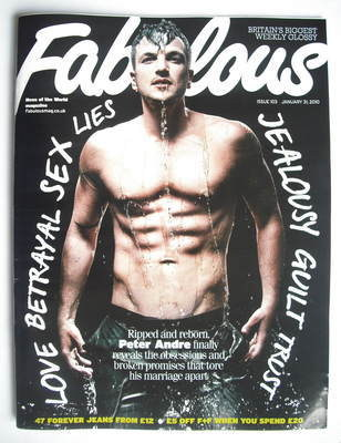 <!--2010-01-31-->Fabulous magazine - Peter Andre cover (31 January 2010)