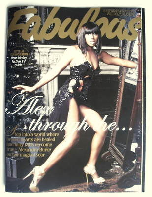 <!--2009-12-20-->Fabulous magazine - Alexandra Burke cover (20 December 200