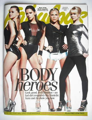 <!--2010-01-02-->Fabulous magazine - Body Heroes cover (2 January 2010)
