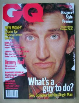 British GQ magazine - March 1992 - Jimmy Nail cover
