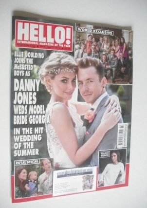 <!--2014-08-18-->Hello! magazine - Danny Jones and Georgia Horsley cover (1