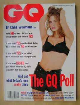 British GQ magazine - January 1994 - Justine Oliver cover
