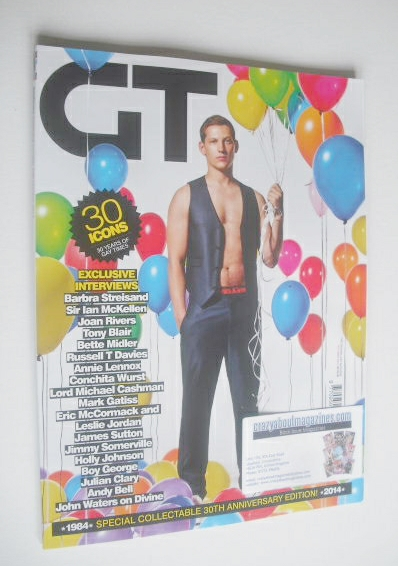 <!--2014-10-->Gay Times magazine - James Sutton cover (October 2014)