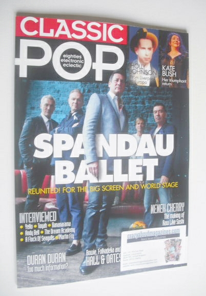 <!--2014-10-->Classic Pop magazine - Spandau Ballet cover (October/November