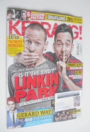 <!--2014-11-22-->Kerrang magazine - Linkin Park cover (22 November 2014 - I