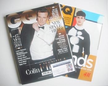British GQ magazine - October 2014 - Colin Firth cover