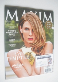 Maxim magazine - Angela Lindvall cover (October 2014 - US Edition)