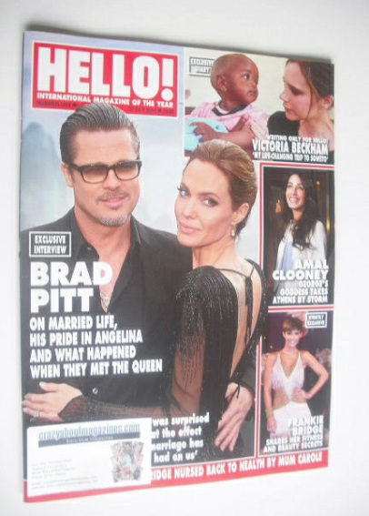 <!--2014-10-27-->Hello! magazine - Brad Pitt and Angelina Jolie cover (27 O