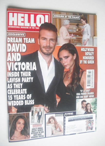 <!--2014-10-20-->Hello! magazine - David and Victoria Beckham cover (20 Oct