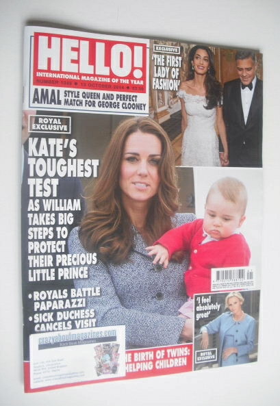 <!--2014-10-13-->Hello! magazine - The Duchess of Cambridge cover (13 Octob