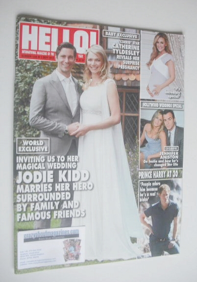 <!--2014-09-01-->Hello! magazine - Jodie Kidd wedding cover (1 September 20