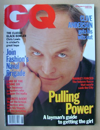 <!--1992-06-->British GQ magazine - June 1992 - Clive Anderson cover