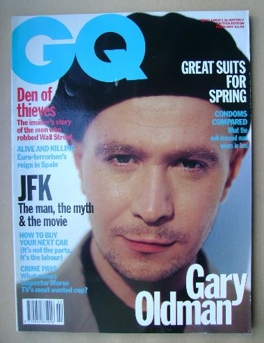 <!--1992-02-->British GQ magazine - February 1992 - Gary Oldman cover