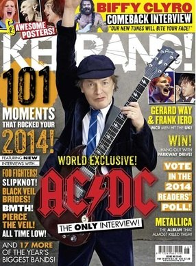 <!--2014-11-29-->Kerrang magazine - AC/DC cover (29 November 2014 - Issue 1