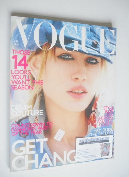 <!--2001-08-->British Vogue magazine - August 2001 - Natasha Vojnovic cover
