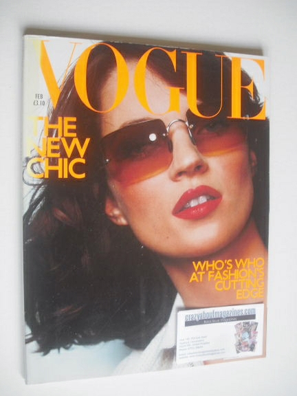 <!--2000-02-->British Vogue magazine - February 2000 - Kate Moss cover