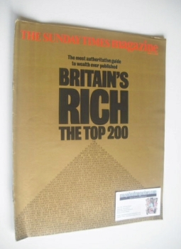 The Sunday Times magazine - Britain's Rich Top 200 (2 April 1989)