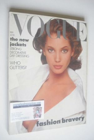 <!--1987-11-->British Vogue magazine - November 1987 - Christy Turlington c