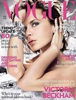 <!--2008-04-->British Vogue magazine - April 2008 - Victoria Beckham cover