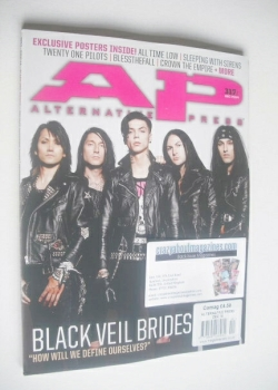 Alternative Press magazine - December 2014 - Black Veil Brides cover (Cover 1 of 2)