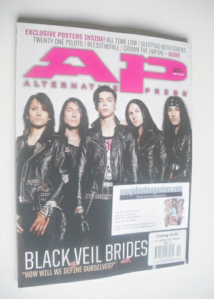 <!--2014-12-->Alternative Press magazine - December 2014 - Black Veil Bride
