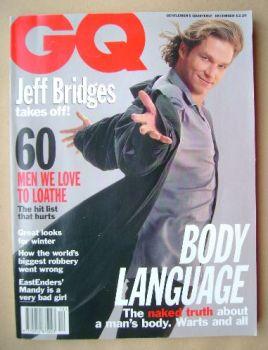 British GQ magazine - December 1993 - Jeff Bridges cover
