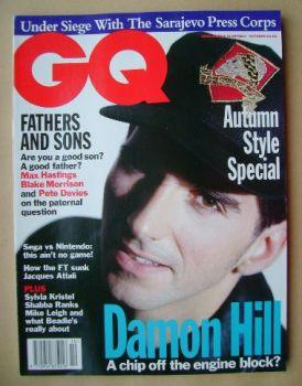 British GQ magazine - October 1993 - Damon Hill cover