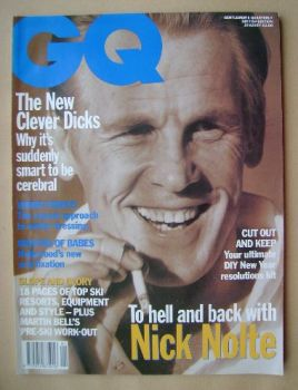 <!--1992-01-->British GQ magazine - January 1992 - Nick Nolte cover