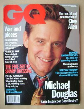 British GQ magazine - May 1992 - Michael Douglas cover
