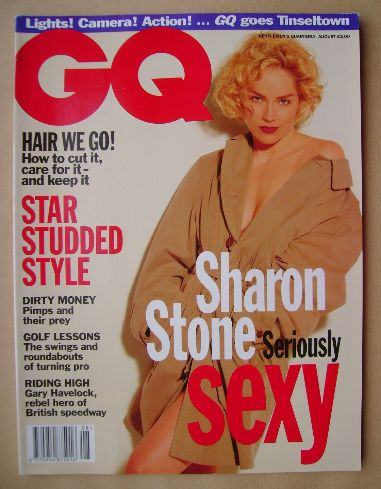 <!--1993-08-->British GQ magazine - August 1993 - Sharon Stone cover
