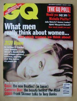 British GQ magazine - January 1995 - Michelle Pfeiffer cover