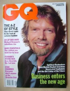 <!--1991-09-->British GQ magazine - September 1991 - Richard Branson cover