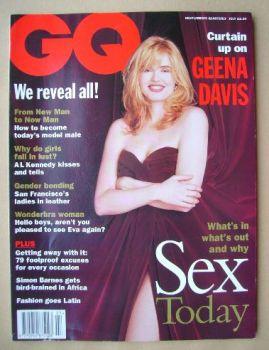 British GQ magazine - July 1994 - Geena Davis cover