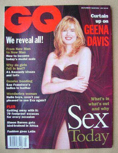 <!--1994-07-->British GQ magazine - July 1994 - Geena Davis cover