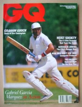 British GQ magazine - January 1991 - Graham Gooch cover