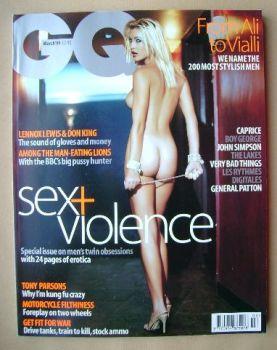 British GQ magazine - Caprice cover (March 1999)