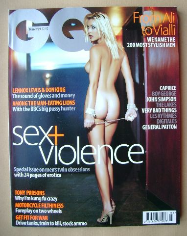 <!--1999-03-->British GQ magazine - Caprice cover (March 1999)