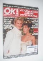 <!--1999-07-16-->OK! magazine - Victoria Adams and David Beckham wedding cover (16 July 1999 - Issue 170)