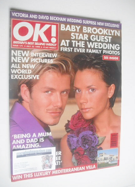 <!--1999-07-23-->OK! magazine - David and Victoria Beckham cover (23 July 1