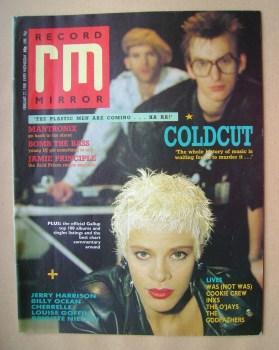Record Mirror magazine - Coldcut cover (27 February 1988)