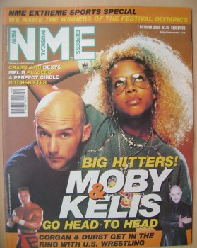 NME magazine - Moby and Kelis cover (7 October 2000)