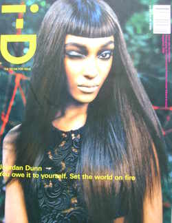<!--2008-09-->i-D magazine - Jourdan Dunn cover (September 2008)