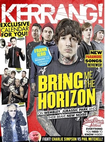 <!--2014-12-06-->Kerrang magazine - Bring Me The Horizon cover (6 December