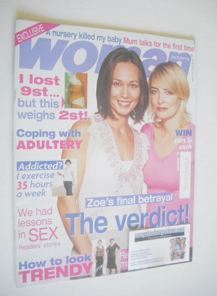 <!--2004-01-19-->Woman magazine - Leah Bracknell and Emma Atkins cover (19