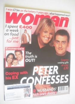 Woman magazine - Sally Lindsay and Chris Gascoyne cover (14 July 2003)