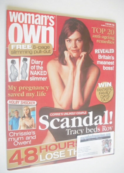 <!--2003-07-14-->Woman's Own magazine - 14 July 2003 - Kate Ford cover