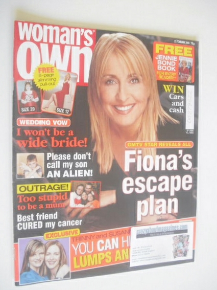 <!--2004-02-23-->Woman's Own magazine - 23 February 2004 - Fiona Phillips c
